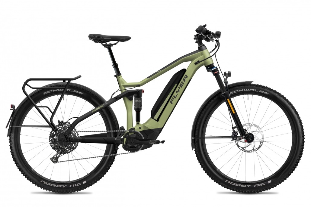 FLYER E-Bike Goroc4 650 Fullsuspension HS OliveMetallicBlackMatt