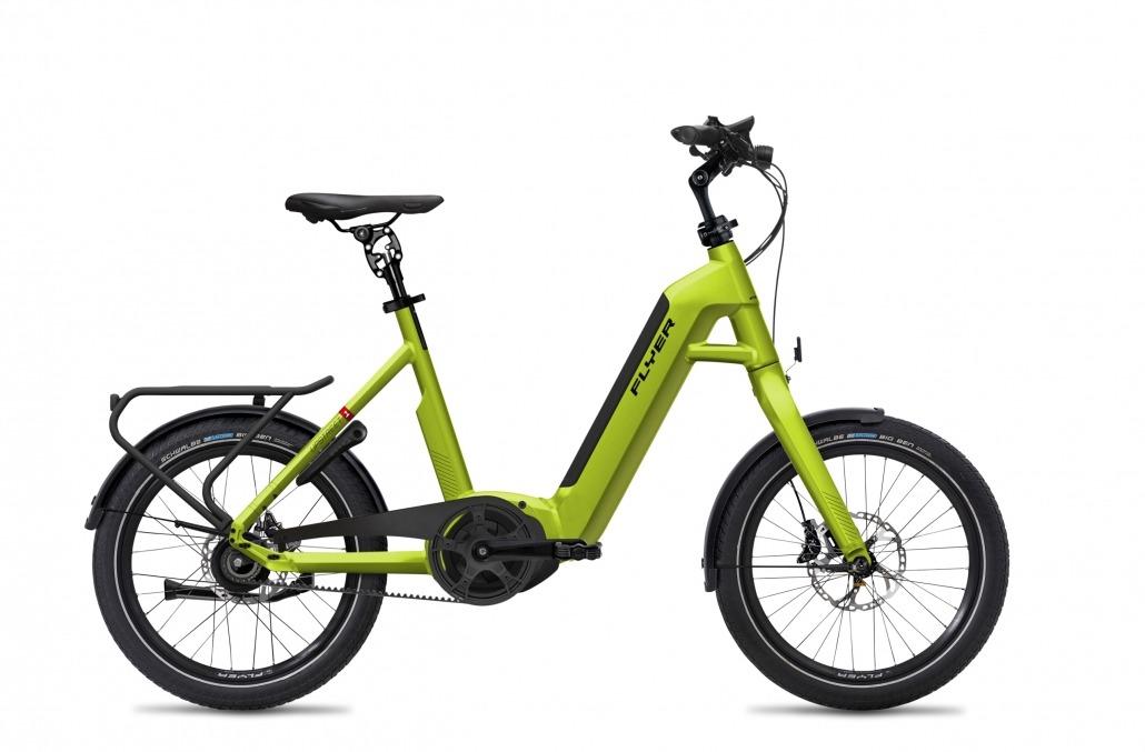 FLYER E-Bikes Upstreet1 703 Comfort LimeGreenGloss